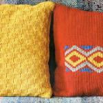 Модные аксессуары — вязаные подушки
