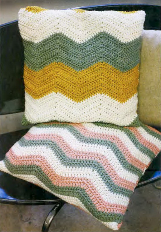 вязаные подушки крючком схемы вязания