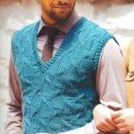 Вязание для мужчин спицами: два вязаных жилета