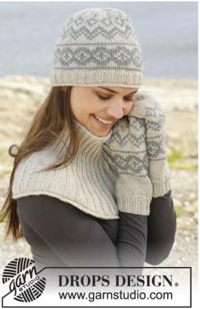 шапка норвежским узором