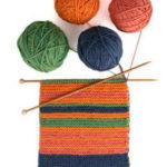 Как связать шарф — настроение из пряжи четырех цветов