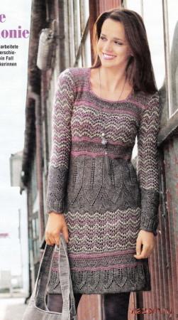 платье спицами из мохера
