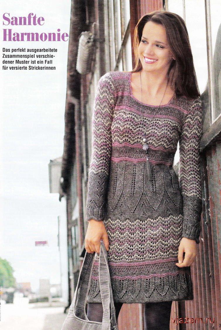 Платье из мохера спицами схема фото 98