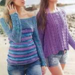 Ажурные пуловеры из журнала «Сабрина» № 4/2015 — 9 интересных моделей