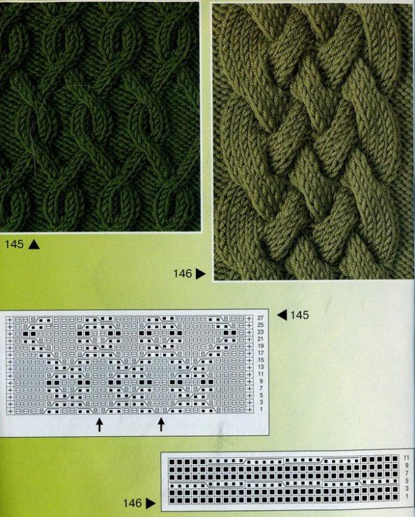 узоры с косами схемы из журналов по вязанию