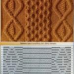 Узоры с косами : 34 схемы из журналов по вязанию