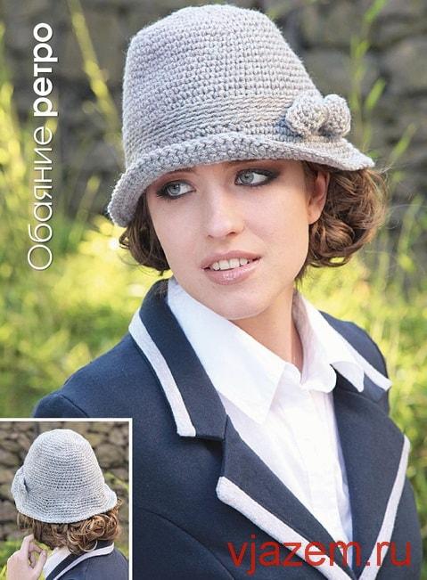 Осенняя шляпка крючком схема фото 695