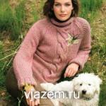 Свитер с косой схема и описание из журнала «Verena»