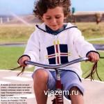 Пуловер с капюшоном для мальчика (вязание спицами)