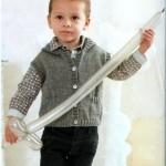 Жилет для мальчика до 3 лет спицами: 3 модели со схемами