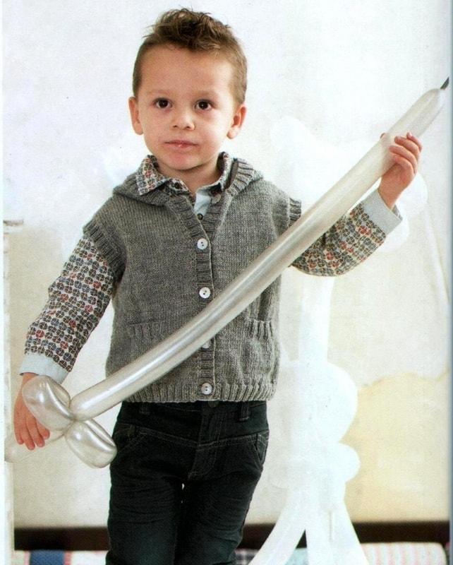 жилет мальчика 3 лет спицами