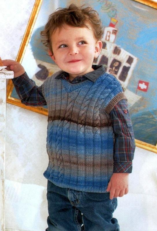жилет для мальчика до 3 лет спицами 3 модели со схемами