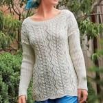 Вязаный ажурный пуловер из журнала «Вязание ваше хобби»
