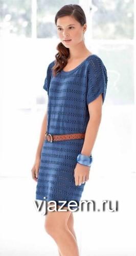 простое вязаное платье
