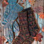 Мужские вязаные носки спицами из меланжевой пряжи