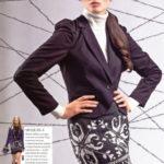 4 юбки с жаккардовым узором спицами: схемы из журналов по вязанию
