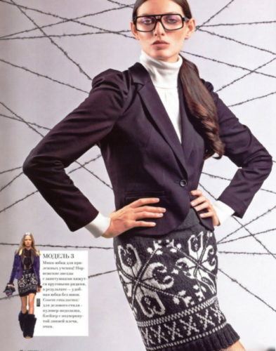 юбки с жаккардовым узором спицами, юбка с жаккардовым узором спицами схемы