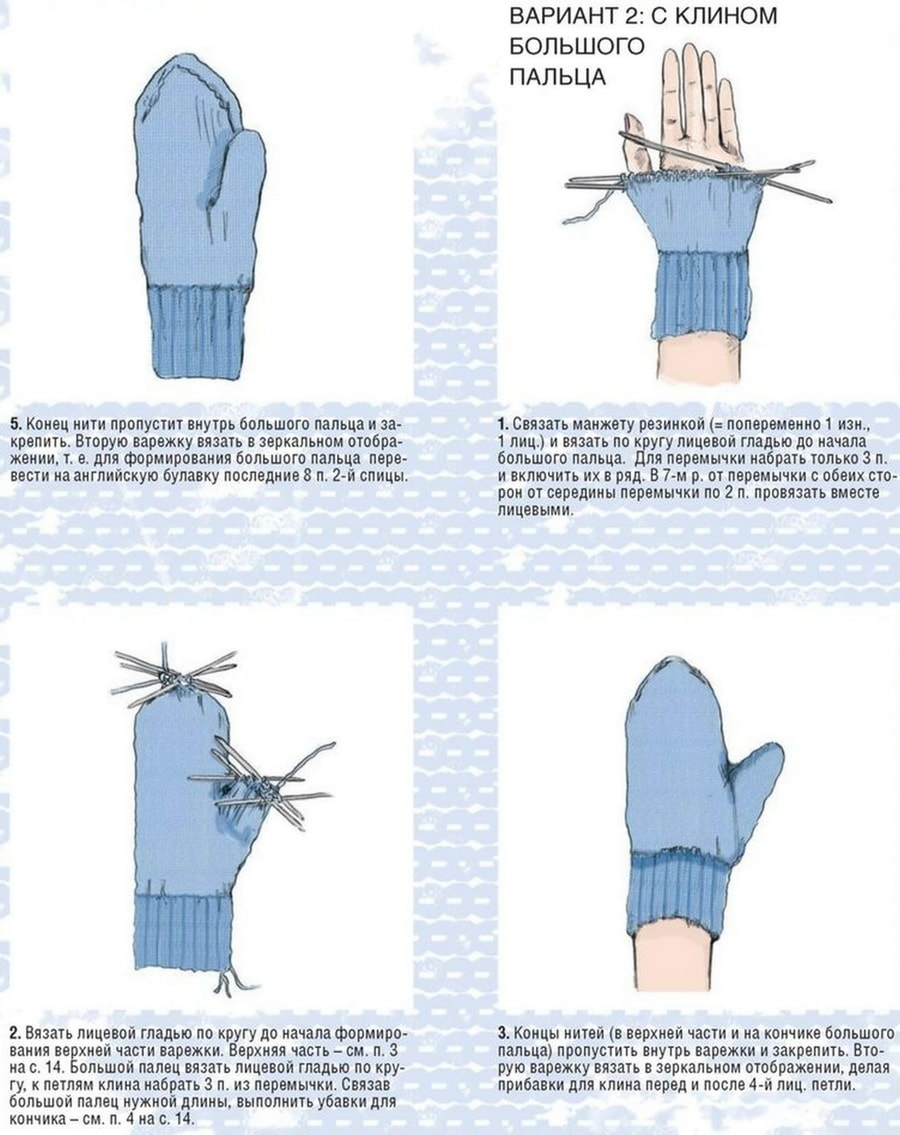 как вязать варежки спицами, как вязать варежки спицами для начинающих пошагово
