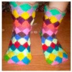 Носки из квадратов крючком