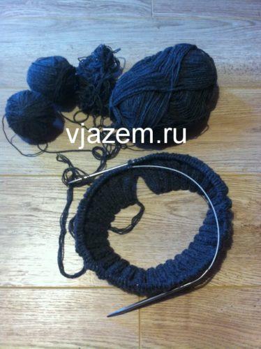 шапка с градиентом спицами, шапка градиентом из кос спицами, шапка с градиентом спицами описание, шапка градиентом спицами схема