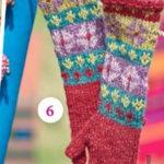 Перчатки для девочки спицами с жаккардовым узором