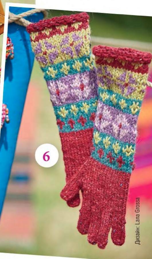 перчатки для девочки спицами