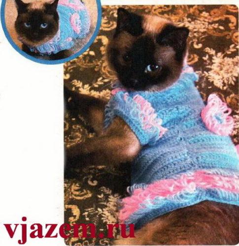 платье для кошки крючком