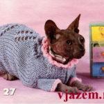 Вязание для кошек сфинксов с описанием и схемами