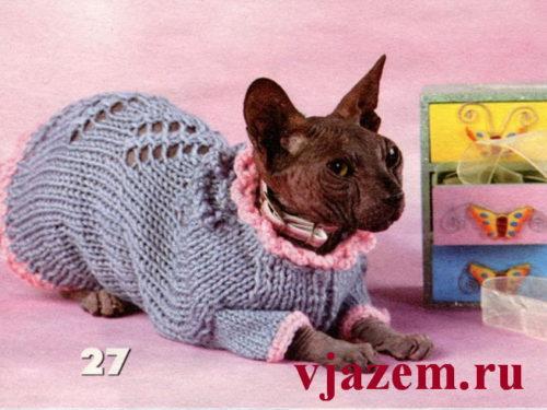 вязание для кошек сфинксов с описанием