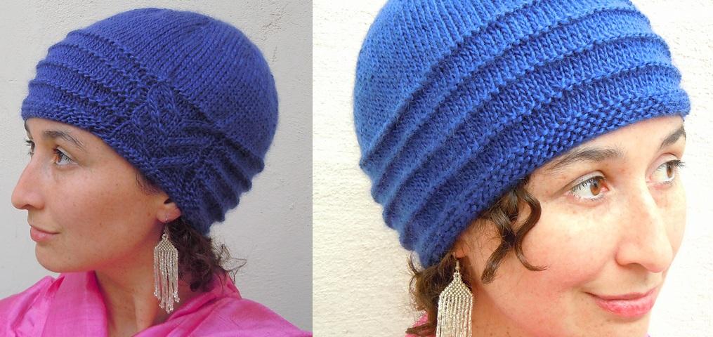 ассиметричная шапка спицами