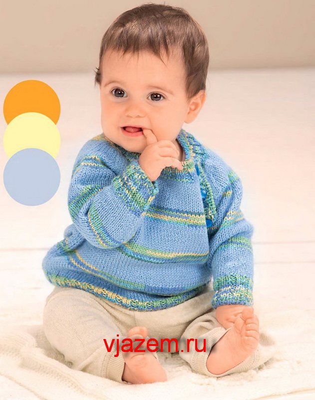 пуловер для мальчика до года спицами