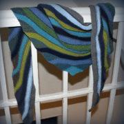 платок укороченными рядами