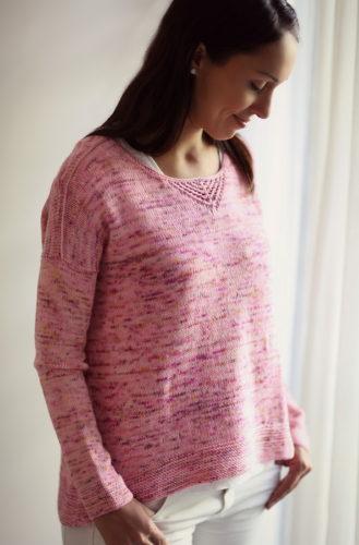 пуловер оверсайз спицами описание