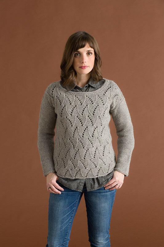 ажурный вязаный пуловер