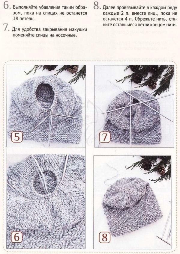 шапка и снуд спиральным узором