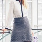 Вязаная  юбка с ажурным низом спицами