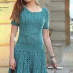 Платье с ажурными узорами крючком