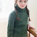 Свитер для девочки спицами Vika от Бруклин Твид