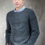 Мужской свитер спицами из твида COBBLESTONE