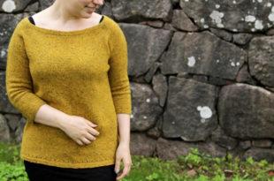 вязание пуловера оверсайз