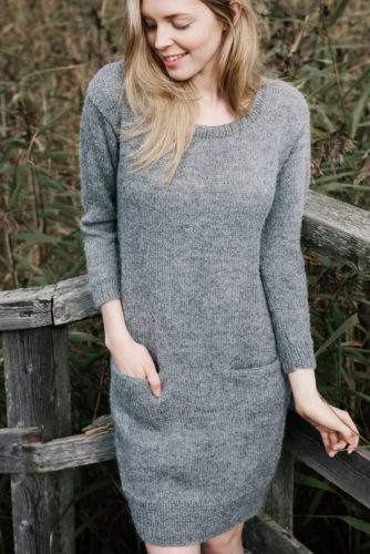 платье из альпаки спицами